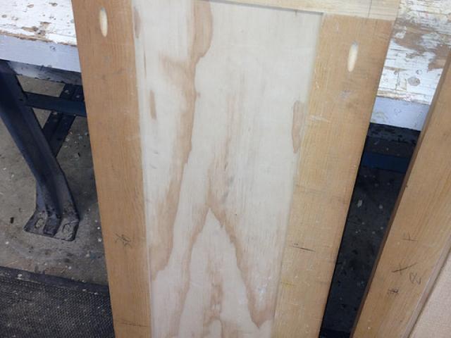 Custom wood door construction
