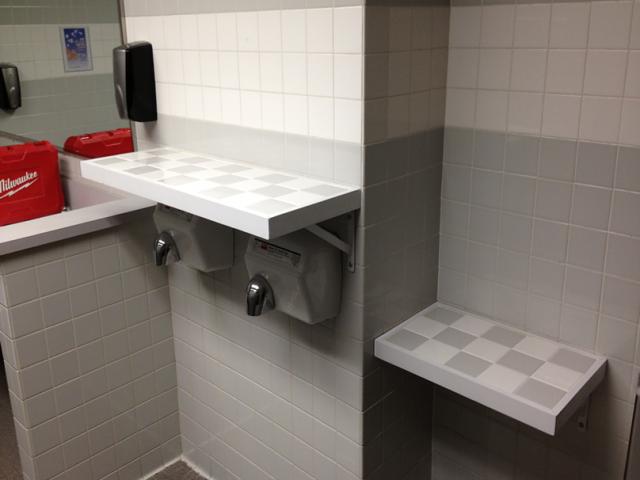 custom bathroom shelving