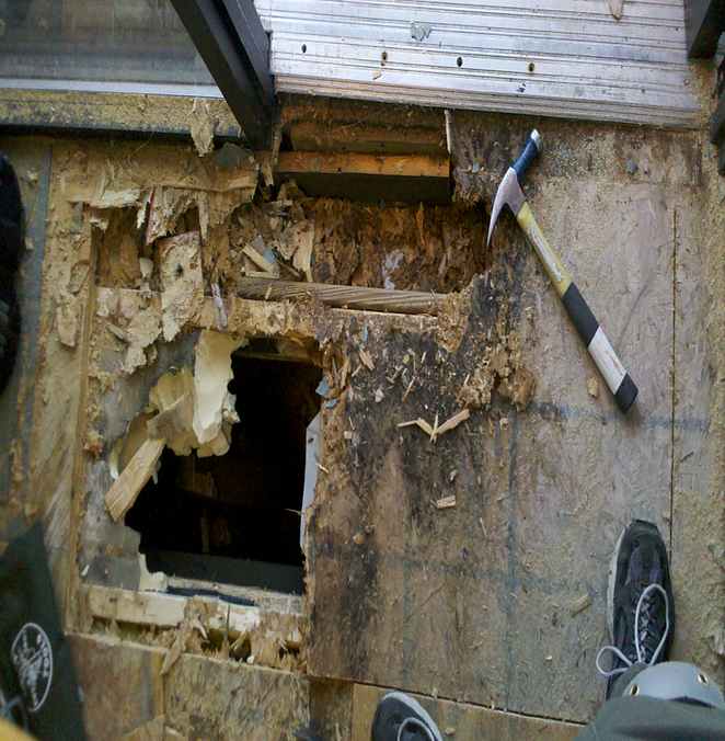 rotten sub flooring repairs